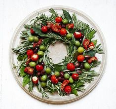 oliven tomaten weihnachtskranz selber machen