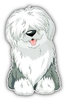 Illustration about Illustration of sitting funny Old English Sheepdog. Illustration of domestic, sheepdog, pets - 27377911 Cartoon Cartoon, Chien Bobtail, Animal Drawings, Cute Drawings, Dog Drawings, Old English Sheepdog, Dog Illustration, Dog Art, Cool Cats