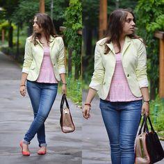 Koton Blazer, Orsay Top, Primark Flats, Reserved Jeans