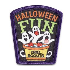 HALLOWEEN FUN GHOSTS SEW-ON PATCH $1.50