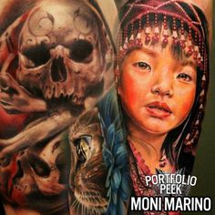 """Check out Sullen TV's Brand NEW VIDEO """"#Portfolio Peek"""" with the beautiful and talented MONI MARINO TATTOOARTIST   WATCH & SUBSCRIBE: http://youtu.be/eP6W3Bpyork Follow Facebook: www.facebook.com/SullenTV  Follow Blog:  http://sullentv.tumblr.com/ #sullentv #sullen #tattoos #tattoo #tattooed #art #ink #artist #realistic #realism #sullenclothing #monimarino #rockstarenergydrink"""