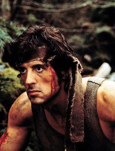 """Sylvester Stallone en """"Acorralado"""", 1982"""