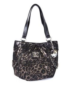 f7966475afbc Look what I found on  zulily! Kathy Van Zeeland Leopard Chain Reaction  Shopper Tote