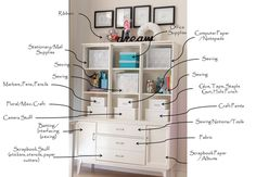 I'm obsessed with containers and organization. This is what I want my sewing area to be like. It's a masterpiece.