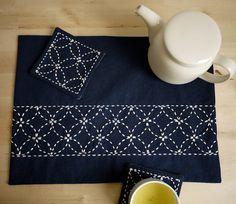 DIY Home Decor Sashiko Embroidery Kit: Nigiyaka di SakePuppets