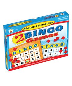 Take a look at this Addition & Subtraction Bingo on zulily today!