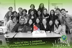"""Life is like a camera. Focus on what's important. Capture the good times. Develop from the negatives, and if it doesn't work out, take another shot."" #yearbook #editor #yearbookclass #editorincheif #yearbooks #yearbookstaff #mentoring #teamwork #yerd #friends #highschool #throwback"