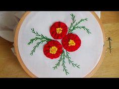Hand Embroidery: Yo-yo flowers - YouTube