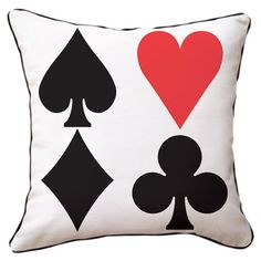 I pinned this Red Heart Pillow from the Alice in Wonderland event at Joss and Main! Red Throw Pillows, Modern Throw Pillows, Accent Pillows, Toss Pillows, Heart Pillow, Pillow Talk, Heart Cushion, Pillow Fight, Mad Hatter Tea