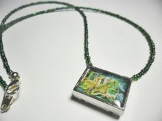 Super Nintendo altered art pendant EVO Search by ReturnersHideout, $12.50