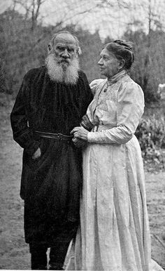 Tolstoy and his wife Sophia Tolstaya, Sep. 23, 1910.