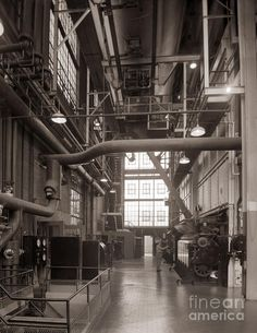 The Stegmaier Brewery Boiler Room Wilkes Barre Pennsylvania 1930s Photograph  - The Stegmaier Brewery Boiler Room Wilkes Barre Pennsylvania 1930s Fine Art Print