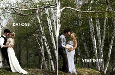 Photo mariage-enceinte au même endroit #Enceinte