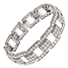 BLACK STAR & FROST Art Deco Diamond Platinum Bracelet, ca. 1930