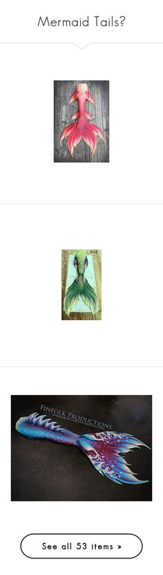 """""""Mermaid Tails🐠"""" by moon-and-starss ❤ liked on Polyvore featuring mermaid, mermaid tail, tail, fantasy, beauty products, haircare, hair color, costumes, costume and accessories"""