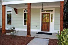 Front porch columns home depot vinyl porch posts on home columns superior vinyl porch posts series . front porch columns home Front Porch Posts, Front Porch Columns, Farmhouse Front Porches, Porch Pillars, House Pillars, Front Entry, Front Doors, Porch Kits, Porch Ideas