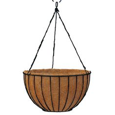 14 Inch London Basket and Liner w/Hanger, London Baskets: Kinsman Garden Company Hanging Planters, Hanging Baskets, Floating Garden, Plastic Coating, Basket Liners, Lawn Edging, Plastic Pots, Wire Baskets, Easy Install