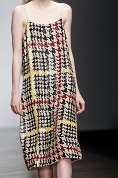 Colourful dogtooth pattern at Ashish Fall 2013