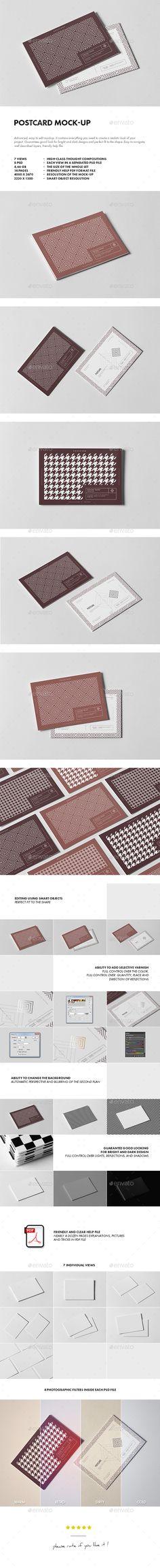 Postcard #Mock-up - #Business #Cards Print Download here: https://graphicriver.net/item/postcard-mockup/20093144?ref=alena994