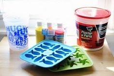 Homemade Siewalk Chalk - using liquid tempera paint!