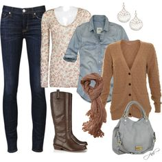 A fashion look from November 2012 featuring A|Wear cardigans, BKE tops and Hollister Co. blouses. Browse and shop related looks.