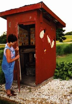 """""""Eleanor"""" outhouses popped up in the 1930s, the result of a Depression-era work project. Paul and Mary Beth McClenon are the proud owners of one of the old-fashion privies still standing in Atchison County, Kan. - Capper's Farmer Magazine"""