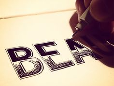 This guy has great hand lettering tutorials and advice for us beginners! Check it out!