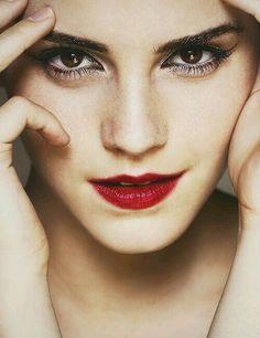 Emma watson red lips