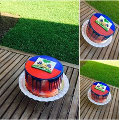 Caribbean Flags, Caribbean Party, Caribbean Recipes, Haitian Wedding, Map Cake, Haiti Flag, Haitian Food Recipes, Haitian Art, Sweet 16 Parties