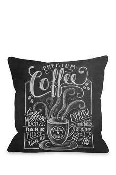 Premium Coffee Pillow - Gray/White