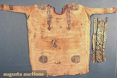 Natural linen and wool Coptic child's tunic w/ Greco-Roman tunic band fragment. 300-700 A.D.