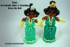 Rainbow Loom Princess Tiana Charm/Action Figure - Detachable Skirt & Sta...
