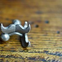 Mustache Cufflinks on Wantist