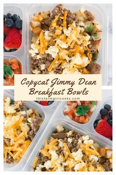 A make-Ahead Breakfast Bowl bursting with eggs, cheese, pork sausages, and potatoes to jump start your day. Make a batch as part of your weekly meal prep or as a grab and heat freezer cooking option. Healthy Meal Prep, Healthy Snacks, Healthy Recipes, Weekly Meal Prep, Meal Prep Recipes, Freezer Recipes, Healthy Protein, Freezer Meals, Easy Recipes
