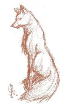 Wolf Sketch by ~finnhuman97 on deviantART . Drawing Illustration Inspiration