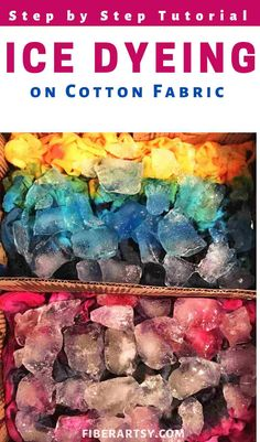 How to Ice Dye on Cotton Fabric. Move over tie dye, ICE DYEING is the new cool way to make some patterned, multi colored fabric. Tie Dye Folding Techniques, Fabric Dyeing Techniques, How To Tie Dye, How To Dye Fabric, Ice Tye Dye, Ice Dyeing, Dyeing Yarn, Dyeing Fabric, Diy Tie Dye Designs