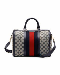 Vintage Web Original GG Canvas Boston Bag by Gucci at Neiman Marcus.