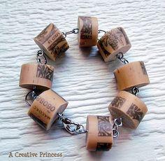 A Creative Princess: Wine Cork Bracelet