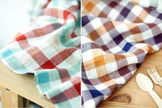 Checkered Gauze Double Sided per Yard 35993 by landofoh on Etsy