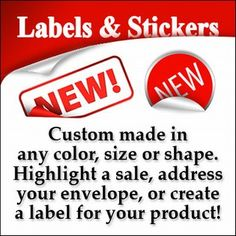 Need Custom LABELS & STICKERS to make a Sale? ... http://ow.ly/quB5L