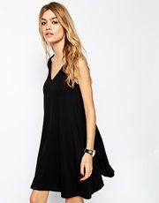 ASOS Sleeveless Swing Dress With V-Neck