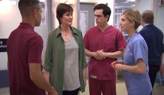 Holby City The scenes in the operating theatre were so intense that it was quite nice to get away for a few moments, especially when the moments involved Digby. Hospital Tv Shows, Holby City, Actors & Actresses, Cool Girl, Theatre, Nice, Theatres, Nice France, Theater