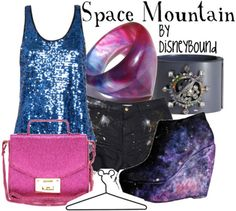 Space Mountain DW. love this outfit. would go great with galaxy nails!