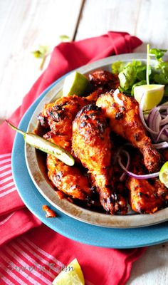 tandoori-chicken for the butter chicken but some of the spices/pastes may be hard to find locally