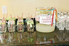 mason jars and paper straws.... oh yes!