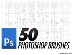50 Free PS Brush sets -- Some awesome ones in here: Twilight squares (like Twilight Princess), abstract, barbed wire, camera & negatives, polaroids, old labelmaker letters, old library book check-out stamps, cigarette smoke.