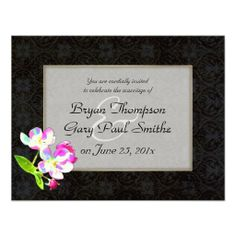 Cosmic Blossoms WEDDING Custom Announcements - SOLD 100 customized invites from InsightfulWeddings* Zazzle, 4.15.14