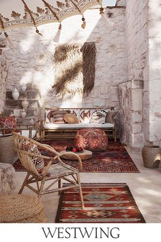 Outdoor Sofa, Outdoor Spaces, Outdoor Living, Look Boho, Door Design, Room Inspiration, Decorating Your Home, Shag Rug, Gardens