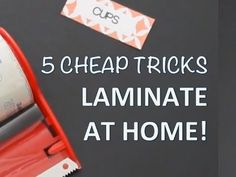 MORE ABOUT PRODUCTS MENTIONED: http://doitonadimeblog.wordpress.com/2014/11/03/diy-lamination-at-home/ *This is NOT a paid product placement video. All opini...