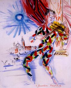Raoul Dufy - Arlequin à venise  in love with this!